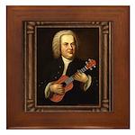 J.S. Bach on Uke Framed Tile