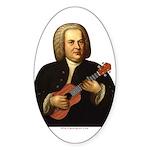 J.S. Bach on Uke Sticker (Oval)