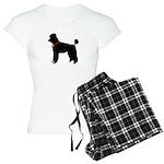 Poodle Silhouette Women's Light Pajamas