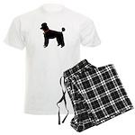 Poodle Silhouette Men's Light Pajamas