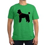 Poodle Silhouette Men's Fitted T-Shirt (dark)