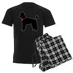 Poodle Silhouette Men's Dark Pajamas