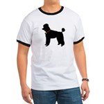 Poodle Silhouette Ringer T