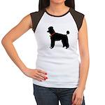 Poodle Silhouette Women's Cap Sleeve T-Shirt