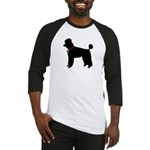 Poodle Silhouette Baseball Jersey
