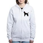 Poodle Silhouette Women's Zip Hoodie