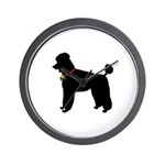 Poodle Silhouette Wall Clock