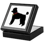Poodle Silhouette Keepsake Box