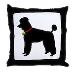 Poodle Silhouette Throw Pillow