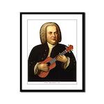 J.S. Bach on Uke Framed Panel Print