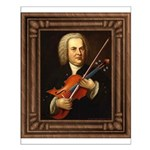 J.S. Bach on Viola Small Poster