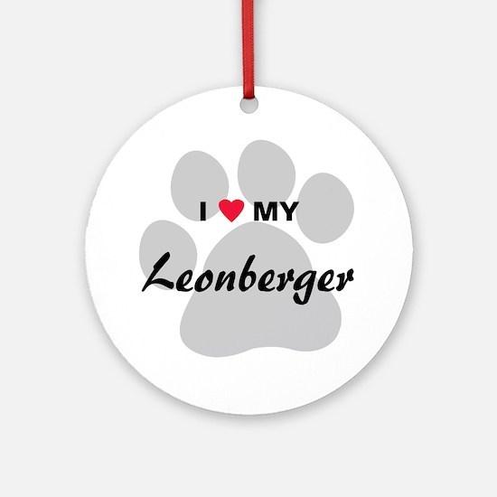 I Love My Leonberger Ornament (Round)