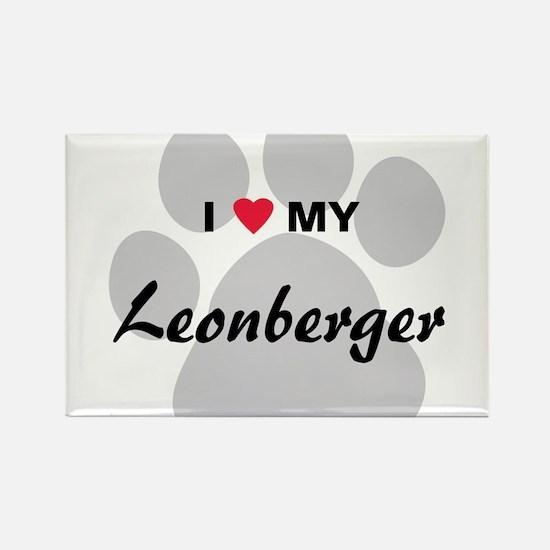 I Love My Leonberger Rectangle Magnet