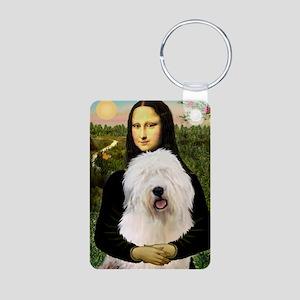 Mona's Old English Sheepdog Aluminum Photo Keychai