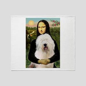 Mona's Old English Sheepdog Throw Blanket