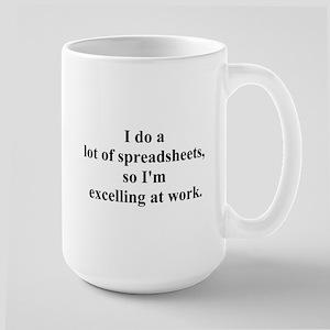 spreadsheet joke Large Mug