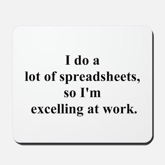 spreadsheet joke Mousepad