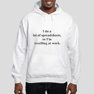 spreadsheet joke Hooded Sweatshirt