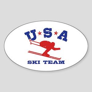 USA Ski Team Sticker (Oval)