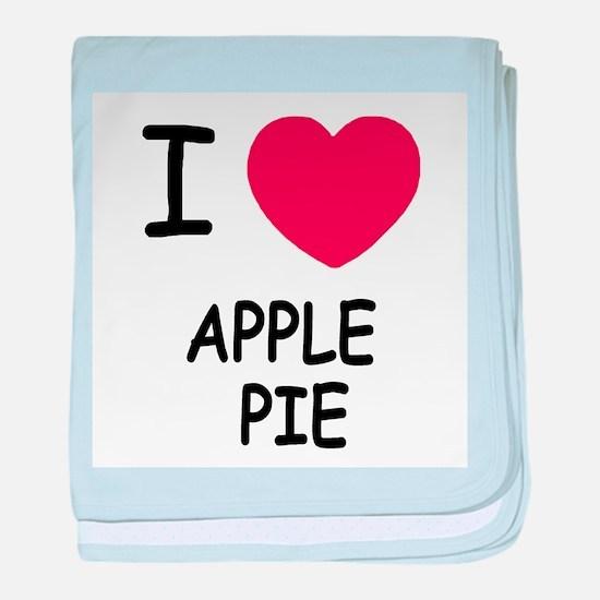 I heart apple pie baby blanket