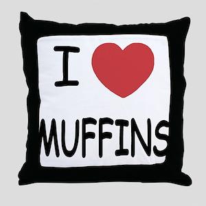 I heart muffins Throw Pillow