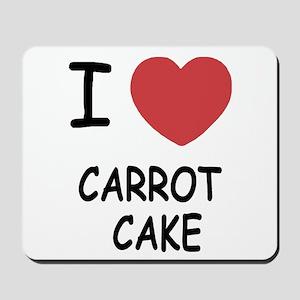 I heart carrot cake Mousepad