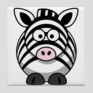 Cartoon Zebra Tile Coaster