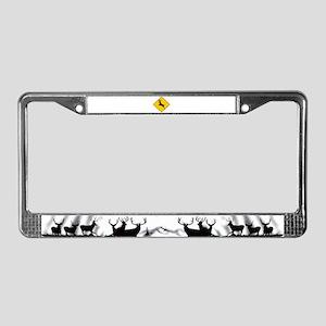 Deer crossing License Plate Frame
