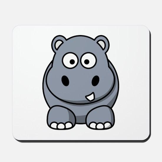 Cartoon Hippopotamus Mousepad