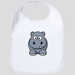 Cartoon Hippopotamus Bib