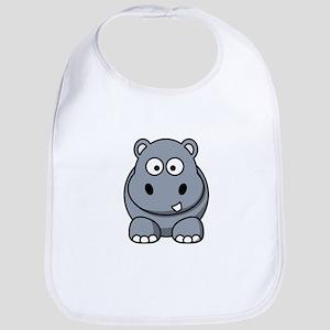 Cartoon Hippopotamus Bib