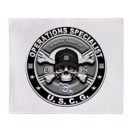 USCG Operations Specialist Sk Throw Blanket