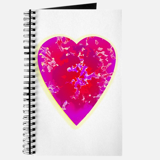 Red and Purple 3D Heart Journal