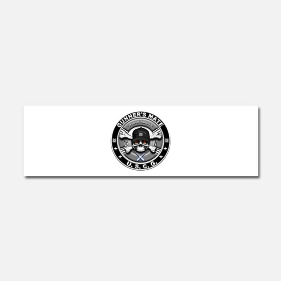 USCG Gunners Mate Skull GM Car Magnet 10 x 3