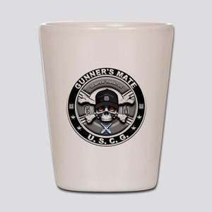 USCG Gunners Mate Skull GM Shot Glass