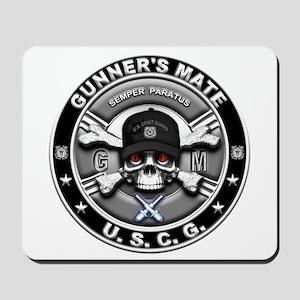 USCG Gunners Mate Skull GM Mousepad