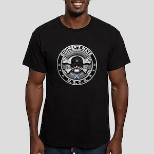 USCG Gunners Mate Skull GM Men's Fitted T-Shirt (d