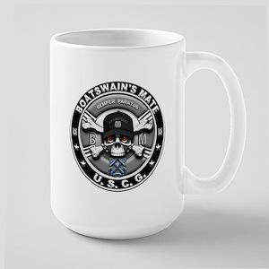 USCG Boatswains Mate Skull BM Large Mug