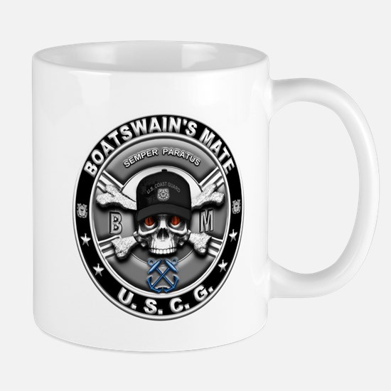 USCG Boatswains Mate Skull BM Mug