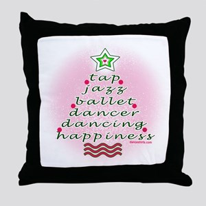 Dancers Christmas Tree by DanceShirts.com Throw Pi