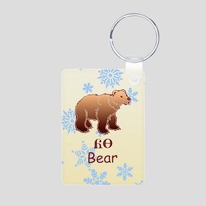 Baby Cherokee Bear Aluminum Photo Keychain