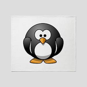 Cartoon Penguin Throw Blanket