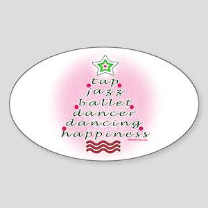 Dancers' Christmas Tree Sticker (Oval)
