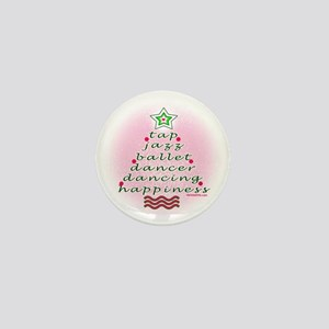 Dancers' Christmas Tree Mini Button