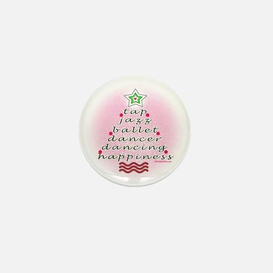 Dancers' Christmas Tree Mini Button