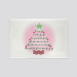 Dancers' Christmas Tree Rectangle Magnet