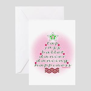 Dancers' Christmas Tree Greeting Card