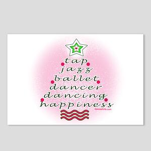 Dancers' Christmas Tree Postcards (Package of 8)