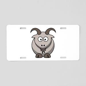 Cartoon Goat Aluminum License Plate