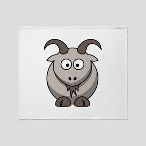 Cartoon Goat Throw Blanket